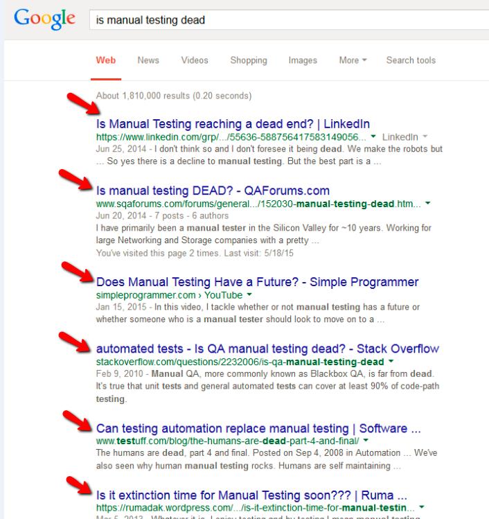 is manual testing dead