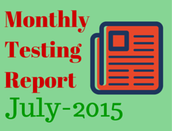 Monthly Software Testing Report – Jul 2015