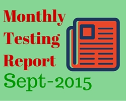 Monthly software testing report september 2015