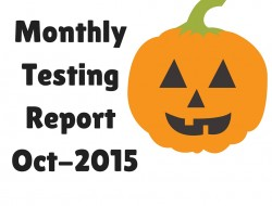 Monthly Software Testing Report – Oct 2015