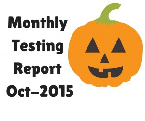 Monthly Testing Report Oct 2015