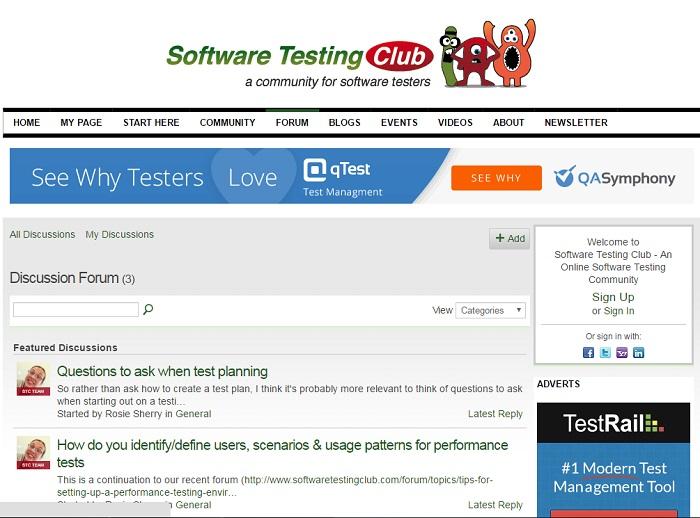 SoftwareTestingClub_forum