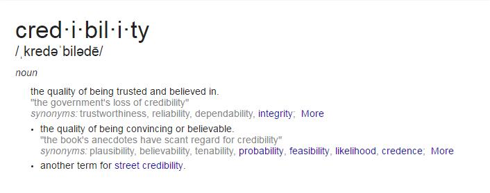 credibility
